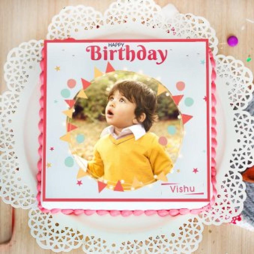 Choco Vanilla Photo Cake