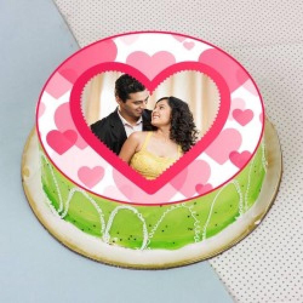 Kiwi Flavored Photo Cake