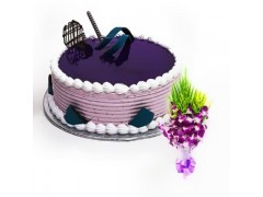 Blue Berry with Orchid Flower Combo