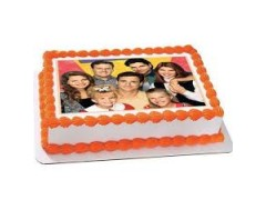 Choco Orange Family Photo cake