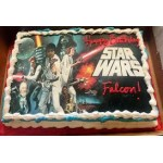 Star Wars themed photo cake